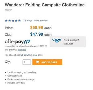 PORTABLE CAMPING CLOTHESLINE Bli Bli Maroochydore Area Preview