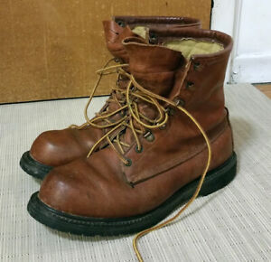 Vintage Tan Leather Steel Toe Boots Cabela's Mens 10