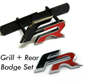 fr grill rear badge seat leon ibiza black red emblem cupra. Black Bedroom Furniture Sets. Home Design Ideas