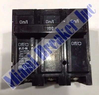 Cutler Hammer Br3100 Circuit Breaker 100a 3 Pole 240 Vac New