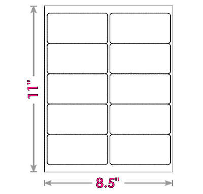 Qty Of 60 --- 2 X 4 Labels 2x4 Mailing Address Multi-purpose Blank Labels
