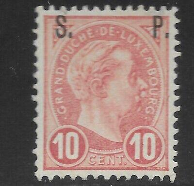 Luxembourg Sc O79 MNH. 1895 10c carmine w/ S.P. ovpt OG!!!!(Q18)