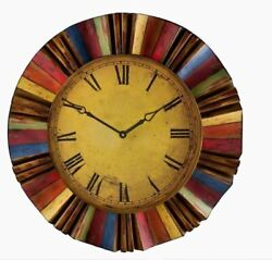 Colors Art Large 30 Oversized Round Wall Clock, Modern Industrial, Quartz - NEW