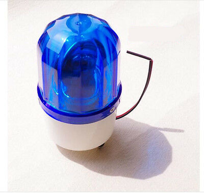 Ac110v Blue Rotating Beacon Warning Light Lamp Spiral Fixed Lte-1101