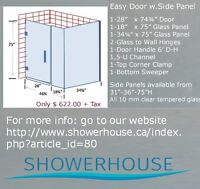Glass Shower Doors- Large Selection from $ 382.00