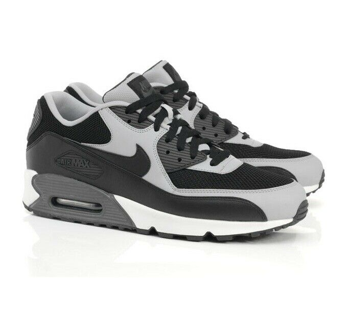 Nike Air Max 90 Essential BlackWolf Grey Mens Sizes NIB 537384 053