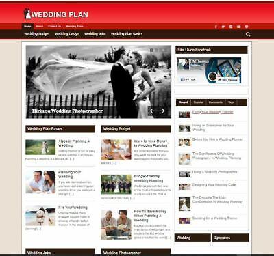 Established Clickbank Affiliate Blog Website- Wedding Planning Niche