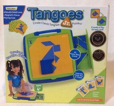 Tangoes Jr (Tangoes Jr Classic Magnetic Tangram Puzzle Set in Travel)