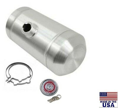 10x16 CENTER FILL SPUN ALUMINUM GAS TANK - 5 GALLON - WITH LOCKING GAS CAP