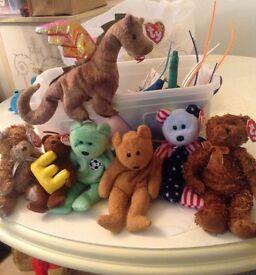 6 Beanie Bears and Dragon £10