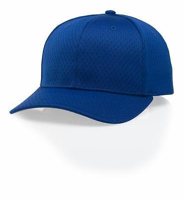Richardson Pro Model On-Field 400S5 Blue Baseball Softball Blank Mesh Hat Cap