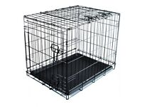 30 inch fold flat dog crate - hardly used