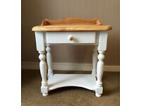 Solid pine console/ hall table with drawer