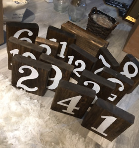 Wedding decor - Wooden Table Numbers