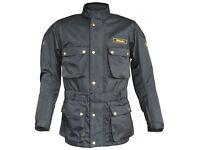 Sale New Men's Stein STJ520 Heritage Motorcycle Jacket Black - Was £99.99 - Now £79.99