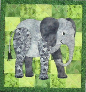 Ellingham Elephant - Quilt Pattern - Applique - Wall Hanging - Nursery - Nature