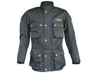 New Men's Stein STJ520 Heritage Motorcycle Jacket Black