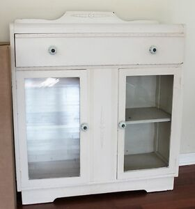 Large white wooden hutch for Sale