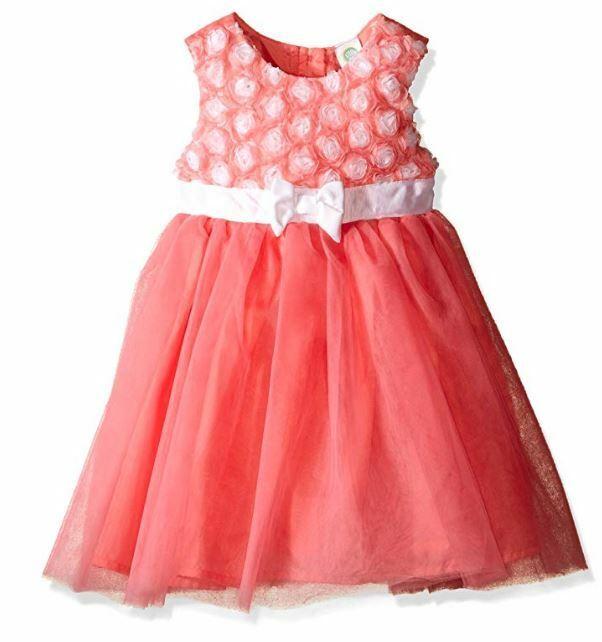 Little Me Toddler Girls' Rosette Mesh Dress, Floral, 2T
