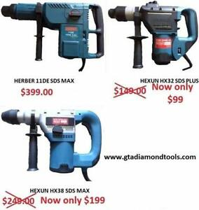 SDS MAX SDS PLUS ROTARY HAMMER DRILL, Chisels, Scrapers,Brand new Warranty