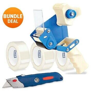 Uline Tape Dispenser Tape And Box Cutter Bundle