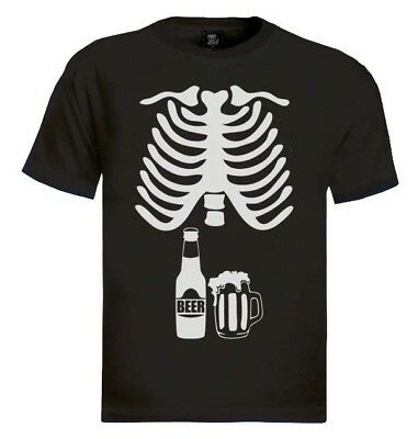 Beer Skeleton Xray T-Shirt baby announcement dad to be couples costume Beer - Baby Beer Costume