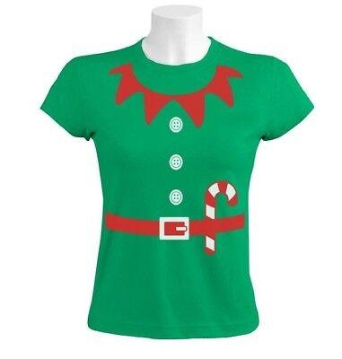 Women's Christmas Party Ideas (Elves Suit Outfit ELF CHRISTMAS Women T-Shirt Crazy Party TV Gift Idea)