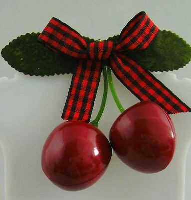 Rockabilly Haarspange Rot kirschen süß