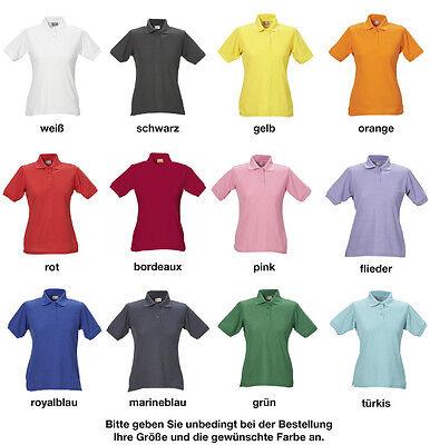 Damen Polo Piqué Shirt Praxiskleidung Arbeitskleidung Freizeitkleidung Gr.XS-5XL