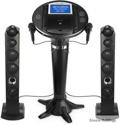 Singing Machine Bluetooth Pedestal Karaoke System - Black (Singing Machine Bluetooth Pedestal Karaoke System Black)