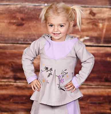 Jelly the Pug Purple Tree Hoodie & Skirt Infant baby Girl Thick Warm Outfit Set  - Thick Girl Outfits