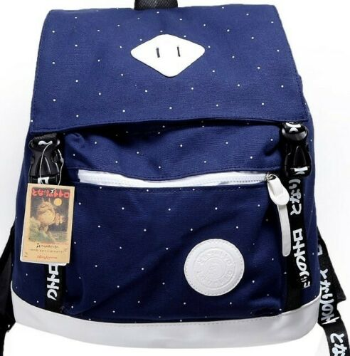My Neighbor Totoro Blue Canvas Backpack