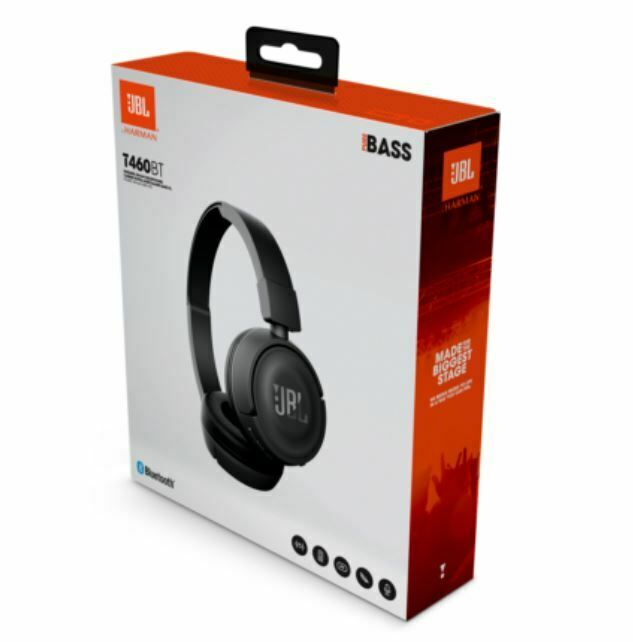 JBL T460BT Wireless On-ear Bluetooth Headphones with JBL Pur