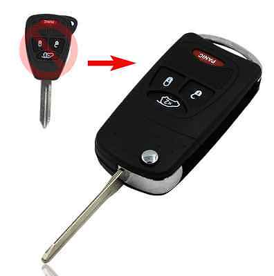CHRYSLER DODGE JEEP 4 BUTTON REMOTE KEY SHELL Flip key CASE fob replacement