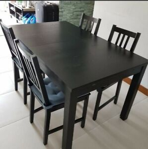 Large Dining Room Table for sale + 4 matching chairs