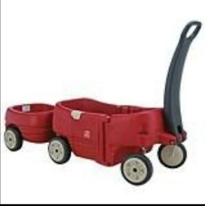 Step 2 Wagon with tag along trailer