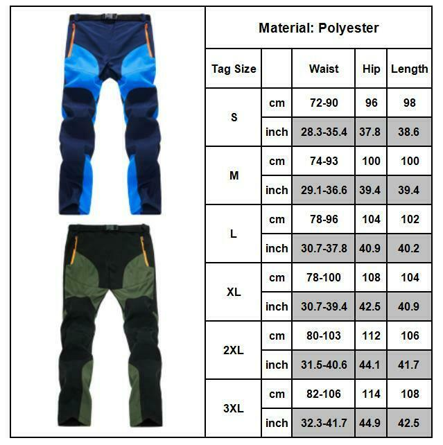 Mens Soft Trousers Work Pants Bottom Outdoor