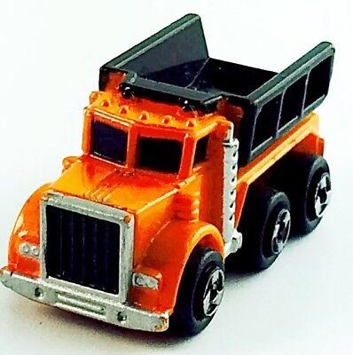 Micro Machines Lot Vehicle Work Truck Dump Truck Diesel Big Rig Auto Car Orange