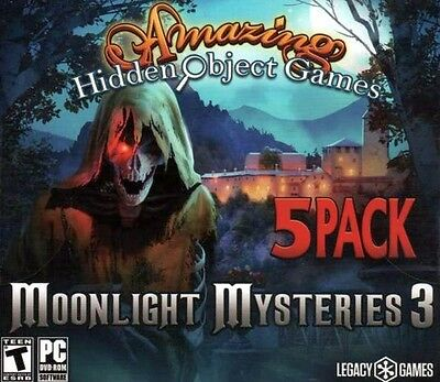 Computer Games - Moonlight Mysteries 3 PC Games Windows 10 8 7 XP Computer hidden object games