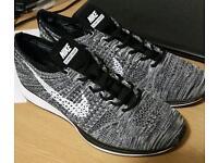 Nike flyknit racer oreo grey UK 10