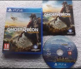 Ghost Recon Wildlands PS4 Excellent condition
