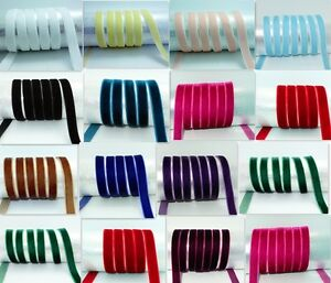 5-10-yards-3-8-10mm-velvet-ribbon-U-choose-colours
