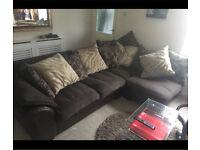 DFS Corner Sofa Brown Luxurious MUST GO