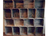 Wooden apple crates - fruit bushel boxes
