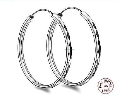 Klassische große Ohrreifen in Echt 925 Silber 55 mm Ohrringe Creolen Geschenk online kaufen