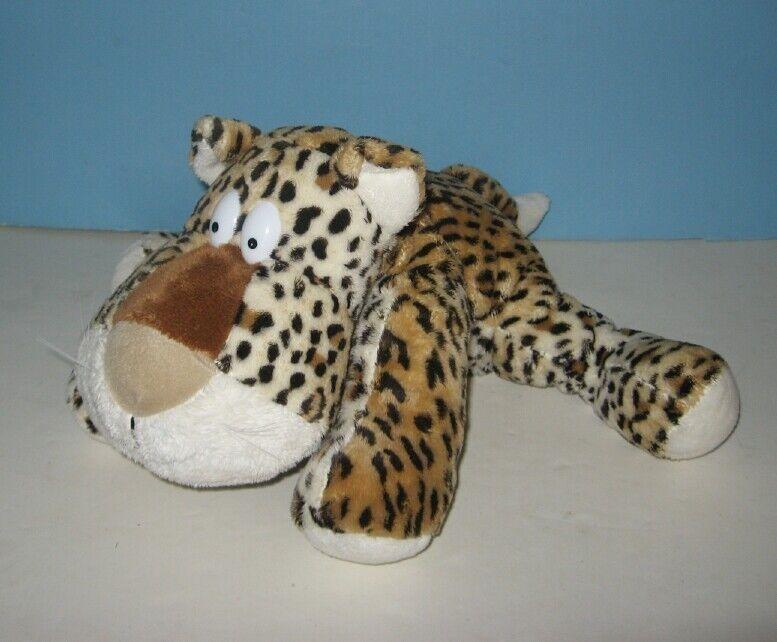 "13"" Applause Floppy Beady Eyes Cheetah Bean Plush Animal"