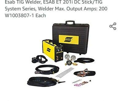 Tig Welder Esab Et 201i Dc Sticktig System Serieswelder Max. Output Amps 200