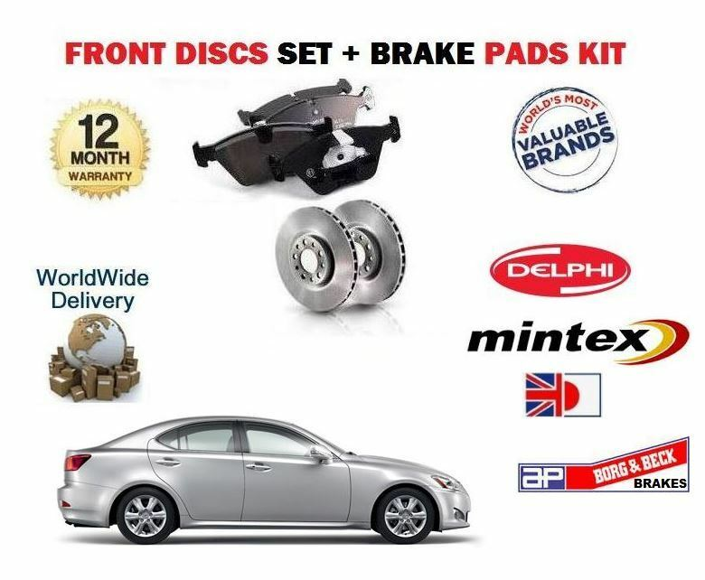 FOR LEXUS IS200D IS220D  2005->ON FRONT BRAKE DISCS + DISC PADS SET *OE QUALITY*