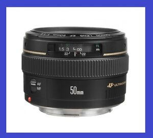 Used Canon EF 50mm F1.4 USM Ultrasonic EOS DSLR Lens 5D 6D 650D
