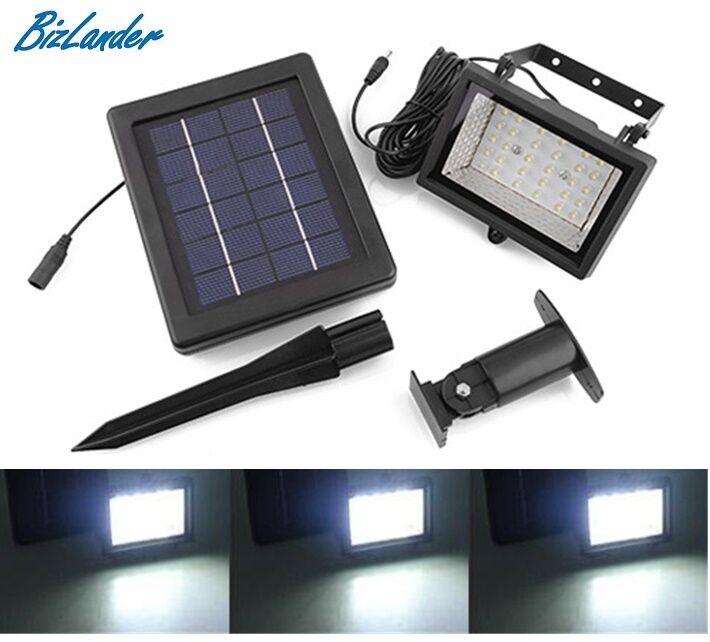 2 X Ultra Bright Solar 30 LED Spot Light Waterproof for Garden, Sign, Tree Lamp